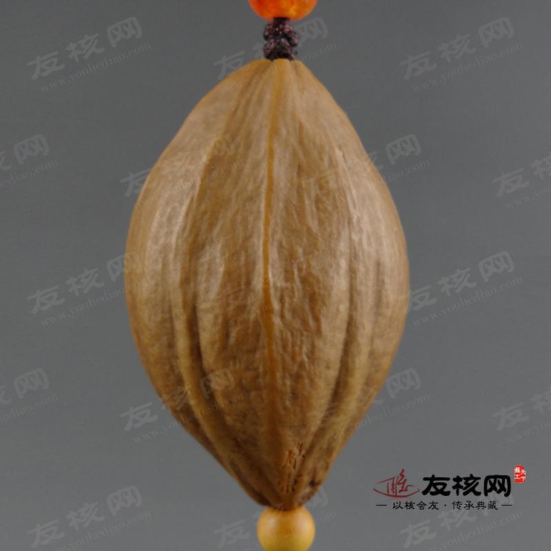 观音单籽橄榄核雕 核雕大师虞伟东出品